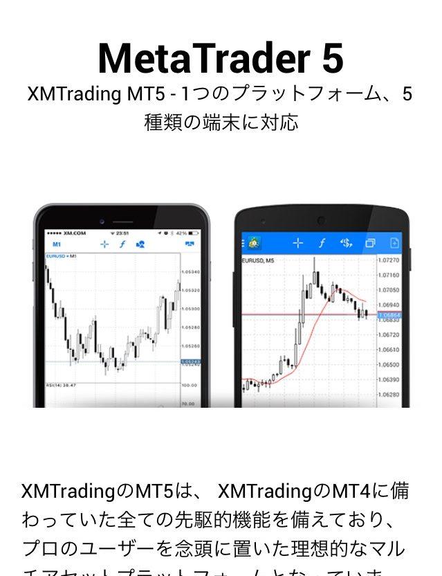 MT5のプラットフォーム