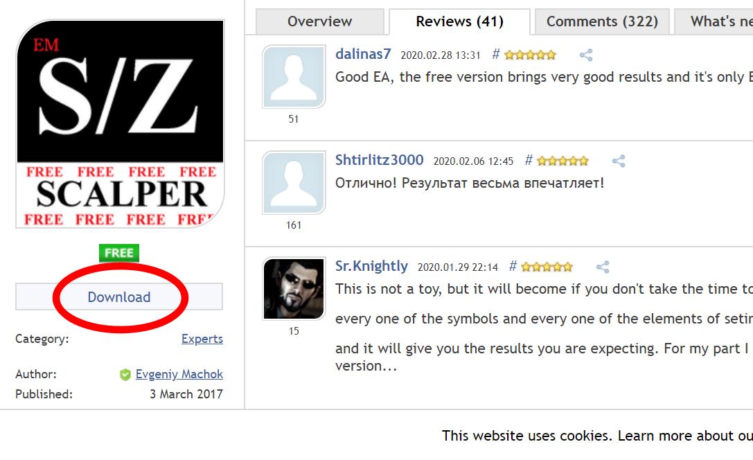 SZ Scalper Freeのダウンロード