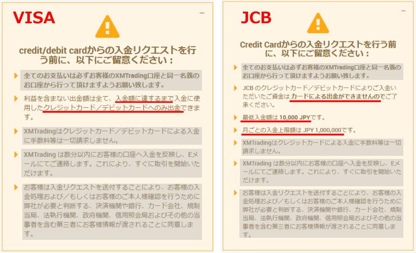 JCBとVISAを比較